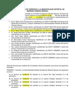 Acta de Donación de Terrenos a La Municipalidad Distrital de Mariano Damaso Beraun
