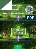 Kuliah Aqidah UAD 2017