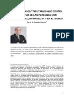 Los beneficios tributarios que existen en favor de las personas con discapacidad, en Uruguay y en el mundo -- Guzmán Ramírez