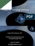 PTI - 1 - Pengantar Teknologi INformasi