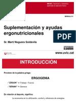 M4.Suplementación y Ayudas Ergonutricionales