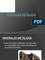 Minerales metálicos