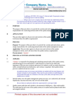 ISO 9001 Process Procedure QPP-092-1 Internal Audit