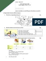 Test de Evaluare Clasa a v-A l2