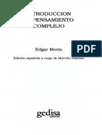Morin Edgar - Introduccion Al Pensamiento Complejo