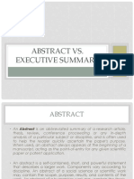 TBW - Lecture 08a (Abstract vs Executive Summary)