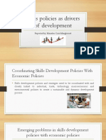Skills Policies as Drivers of Development REPORT