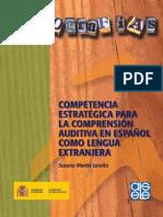 COMPRENSION AUDITIVAcompetencia Estrategica Comprension Auditiva