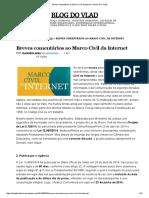 Breves Comentários Ao Marco Civil Da Internet – BLOG DO VLAD