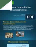 Tema 3. Caracterización de Nanoestructuras (TEM, XRD, EDS, XPS)