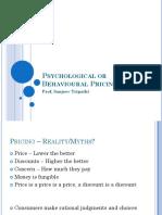 Psychological (Behavioural) Pricing