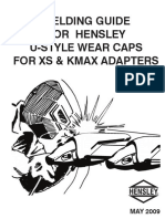 Kmax & XS U-Style Wear Cap Welding Instructions - May 2009