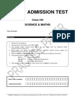 FIITJEE Class VIII Practice Paper