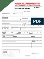 Nuevo Modelo Ficha Afiliacion
