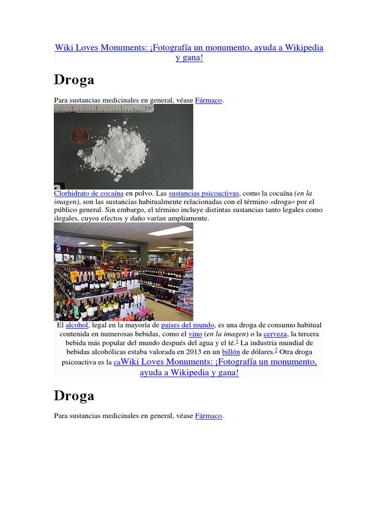 efectos de las drogas en el organismo wikipedia