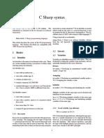 CsharpSyntax Wiki