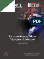 Le Baromètre Politique Viavoice-Libération. Septembre 2017