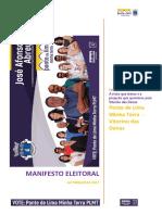 Manifesto Eleitoral PLMT VITORINO DAS DONAS