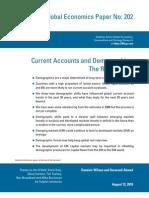 3766178 Goldman Demographics - Current Accounts and Demographics