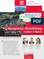 SGBS Seminars St. Gallen Business Schools Management Programmes 2017 2018
