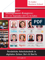 Arbeitstechnik in Digitalen Zeiten Kongress Management St.gallen
