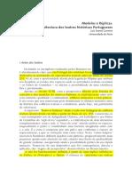 Modelos e Réplicas. a Arquitectura Dos Teatros Históricos Portuguese