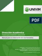 Manual para la Elaboración de Ruta Formativa