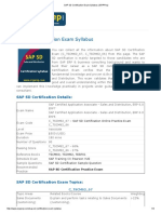 SAP SD Certification Exam Syllabus _ ERPPrep