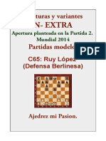 2XT- C65 Ruy López (Defensa Berlinesa)