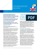 Implications of New Government for Energy Sector UK