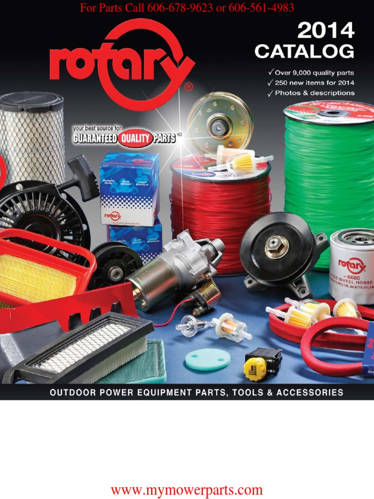 Rotary 2014 Outdoor Power Equipment Parts, Tools, & Accessories
