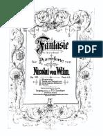Wilm, Nicolai Von - Opus 163 - Fantasie Nr 2 in a Moll
