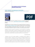 Guion Conjetural - Carolina Senna, Gustavo Bombini