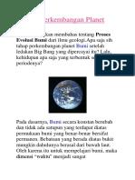 Sejarah Perkembangan Planet Bumi