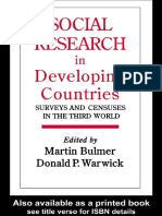 Martin Bulmer's Social Research in Developing Countries