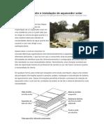 Dimensionamento e Instalacao de Aquecedor Solar