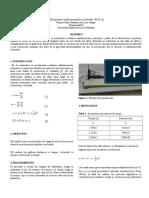 Informe Del Movimiento Rectilineo Uniforme