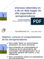Experience Gained With the Use of a High Rate Datalogger in Wind Generators (Spanish)