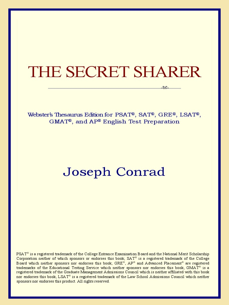The Secret Sharer Webster's Thesaurus Edition   PDF   Graduate ...