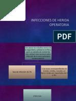Infecciones de Herida Operatoria