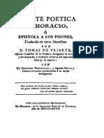 Arte Poética (Horacio)