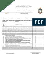 planilla de evaluacion