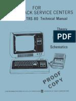 TRS-80 Technical Manual 1978 Radio Shack