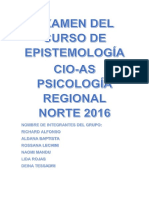 Examen Del Curso de Epistemología