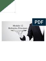 Modulo 12 - Refeições Principais