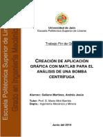 CREACIÓN DE APLICACIÓN  GRÁFICA CON MATLAB PARA EL ANÁLISIS DE UNA BOMBA CENTRÍFUGA