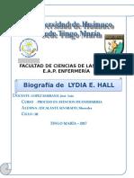 Biografia Lidya Hall
