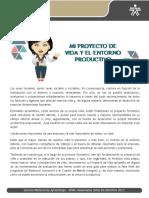 Proyecto Vida y Entorno Productivo