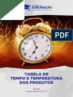 Tabela de Tempo Temperatura Academia Da Sublimação