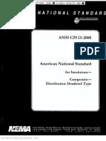 ANSI C29.13 2000 Insulators